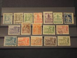 FIUME - 1919 ALLEGORIE 17 VALORI, Carta Bianca -TIMBRATI/USED - 8. WW I Occupation