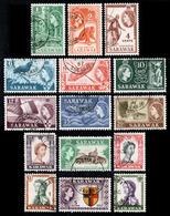 SARAWAK 1955 - Complete Set Fine SG 188-202 USED - Sarawak (...-1963)