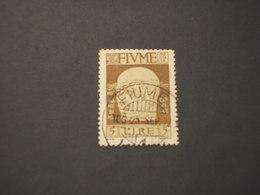 FIUME - 1920 D'ANNUNZIO L.5 -TIMBRATI/USED - 8. WW I Occupation