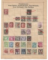 1560s: Altsammlung Auf Albumblatt: Great Britain, See 2 Scans - 1840-1901 (Victoria)