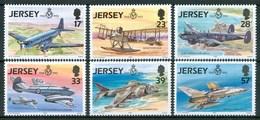 1993 Jersey Aerei Aircraft Avions Set MNH** Tra28 - Jersey