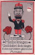 Propagande Allemande, Carte D'Illustrateur C.H.Munk, Hiebe Kriegen, Und Dabei Doch Siegen, Glorreiche Armée Litho (1015) - War 1914-18