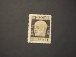 FIUME - 1920 D'ANNUNZIO L.1 - NUOVO(+) - 8. WW I Occupation