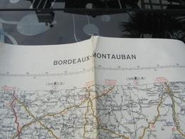 Carte Routière War Office N°79 Michelin 1943 WW2 Bordeaux - Montauban - 1939-45