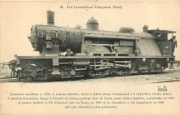 LES LOCOMOTIVES FRANCAISES ANCIENNE MACHINE N°2741 - Matériel