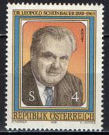 AUSTRIA - 1988 - LEOPOLD SCHONBAUER - MEDICO - MNH - 1945-.... 2nd Republic