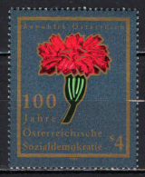AUSTRIA - 1988 - CENTENARIO DEL PARTITO SOCIALISTA AUSTRIACO - MNH - 1945-.... 2nd Republic