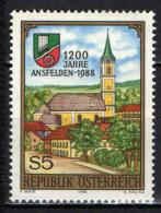 AUSTRIA - 1988 - 12° CENTENARIO DI ANSFELDEN - MNH - 1945-.... 2nd Republic