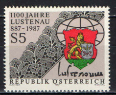 AUSTRIA - 1987 - STEMMA DEL COMUNE DI LUSTENAU - MNH - 1945-.... 2nd Republic