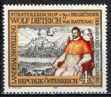 AUSTRIA - 1987 - L'ARCIVESCOVO DUCALE WOLF DIETRICH VON RAITENAU - MNH - 1945-.... 2nd Republic