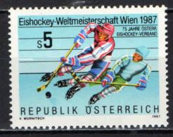 AUSTRIA - 1987 - 75° ANNIVERSARIO DELLA FEDERAZIONE AUSTRIACA HOCKEY SU GHIACCIO - MNH - 1945-.... 2nd Republic
