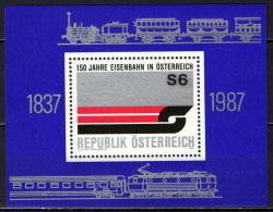 AUSTRIA - 1987 - 150° ANNIVERSARIO DELLE FERROVIE AUSTRIACHE - FOGLIETTO - SOUVENIR SHEET - MNH - 1945-.... 2nd Republic