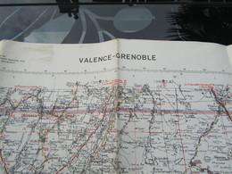 Carte Routière War Office N°77 Michelin 1943 WW2 Valence - Grenoble - 1939-45