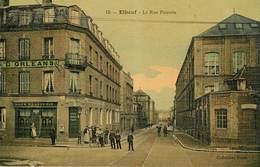Dép 76 - Elbeuf - La Rue Poussin - Carte Toilée Couleurs - Bon état Général - Elbeuf