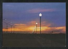 Saudi Arabia Picture Postcard Jeddah Al Andalus Street Night Scene View Card - Saudi Arabia