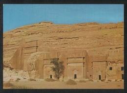 Saudi Arabia Picture Postcard Madain Saleh Nabataean Tombs View Card - Saudi Arabia