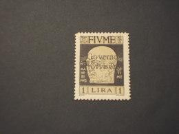 FIUME - 1921 GOVERNO PROVVISORIO L. 1 - NUOVO(++) - Occupation 1ère Guerre Mondiale