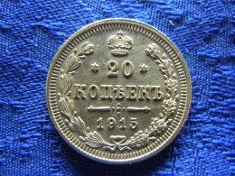 RUSSIA 20 KOPEKS 1915, KM22a.2 - Rusia