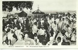 """822 """" AFRICA ORIENTALE-PROCESSIONE COPTA ABISSINA """" FOTOCART ANIM NON SPED. - Etiopia"""