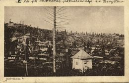 Poland, BORYSŁAW, Partial View With Houses And Oil Field Mining (1930s) Postcard - Poland