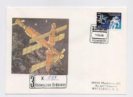 SPACE Cover Mail USSR RUSSIA Rocket Sputnik Baikonur - Rusia & URSS