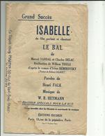 Partition Musicale ( Succes ISABELLE Du Film Parlant Et Chantant LE BAL ) 3 Chansons 6 Pages Paroles Et Musique - Partitions Musicales Anciennes