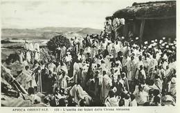 """825 """" AFRICA ORIENTALE- L'USCITA DEI FEDELI DALLA CHIESA ABISSINA """" FOTOCART ANIM NON SPED. - Etiopia"""