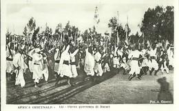 """827 """" AFRICA ORIENTALE - DANZA GUERRESCA DI ASCARI """" FOTOCART ANIM NON SPED. - Etiopia"""