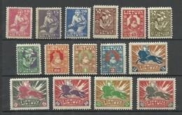 LITAUEN Lithuania 1921 Michel 87 - 101 * - Litouwen