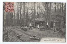 FOUGERES : Hutte De Sabotiers Danbs La Forêt - édition GF N°4041 - Voyagée En 1906 - Fougeres