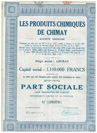 Ancienne Action - Les Produits Chimiques De Chimay -  Titre De 1925 - - Industrie
