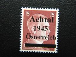 Local Achtal Osterreich 1945 Overprint MNH - 1945-.... 2nd Republic