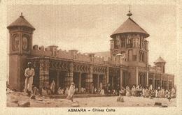 """834 """" ASMARA - CHIESA COPTA (ETIOPIA) """" CART  NON SPED. - Etiopia"""