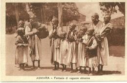 """835 """" ASMARA - FANTASIE DI RAGAZZE ABISSINE(ETIOPIA) """" CART  NON SPED. - Etiopia"""