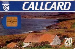 TARJETA TELEFONICA DE IRLANDA, COTTAGE, DAME LINE. 1024e (007) - Irlanda