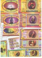 BALTIC  ISLANDS  DOLLARS  SET - Lithuania
