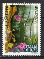 ITALIA - 2011 - EUROPA - TEMATICA FORESTE - USATO - 6. 1946-.. Repubblica