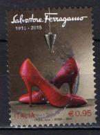 ITALIA - 2015 - MADE IN ITALY: SALVATORE FERRAGAMO - USATO - 6. 1946-.. República