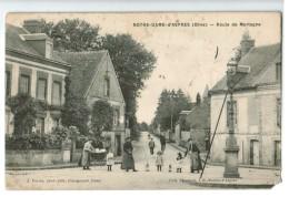 21541  CPA  NOTRE DAME D'ASPRES  ; Route De Mortagne ! Superbe Cpa Animée !  ACHAT DIRECT !! - France