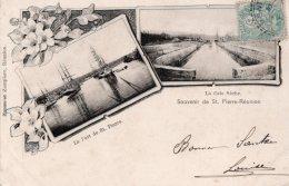 CPA   SOUVENIR DE ST-PIERRE-REUNION---LE PORT DE ST-PIERRE---LA CALE SECHE---1905 - Saint Pierre