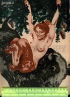231313 GERMANY ART NOUVEAU JUGEND Magazine 1902#40 Satyr Girl - Books, Magazines, Comics