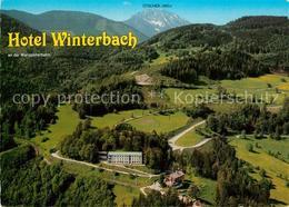 73235036 St_Anton_Jessnitz Hotel Restaurant Winterbach Fliegeraufnahme St_Anton_ - Austria