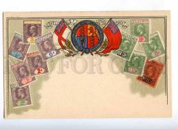 231945 GOLD COAST Coat Of Arms STAMPS Vintage Embossed Zieher - Ghana - Gold Coast