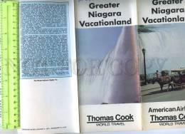 230208 USA Thomas Cook ADVERTISING Niagara Folding Booklet - Books, Magazines, Comics