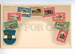 231976 CONGO Coat Of Arms STAMPS Vintage Zieher Postcard - Congo - Brazzaville