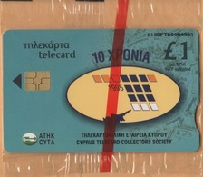 CYPRUS - Cyta, Cyprus Telecard Collector's Society 10 Years, 1 £, 2.000ex, 3/05, Mint - Cyprus