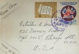 L) 1965 COSTA RICA, BODY OF FIREFIGHTERS OF COSTA RICA, CENTENARY 1865-1965, EMBLEM, FLAG, NICOYA, AIRMAIL, CIRCULATED C - Costa Rica