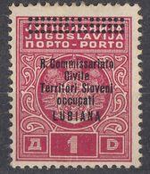 LUBIANA, OCCUPAZIONE ITALIANA - 1941 - Segnatasse Nuovo MH, Unificato 12. - 9. Besetzung 2. WK (Italien)