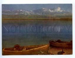 238944 Kyrgyzstan Issyk-Kul Lake Evening Old Postcard - Kyrgyzstan
