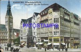 94082 GERMANY HAMBURG MÖNCKEBERGS STREET AND STREET TRAMWAY POSTAL POSTCARD - Allemagne